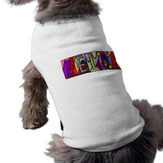 犬のためのZELDAの~の名前入りで大きい手紙PET-WARE! 犬用袖なしタンクトップ