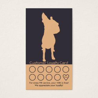 犬のグルーミングの名刺のロイヤリティカード 名刺