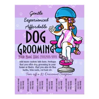 犬のグルーミング。 カスタマイズ可能な昇進の破損シート チラシ