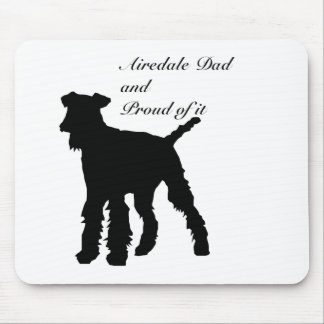 犬のシルエットのAiredaleのパパ マウスパッド