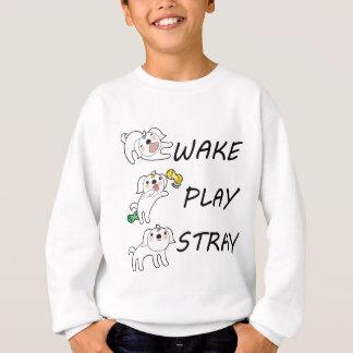 犬のシーズー(犬)のTzuの航跡の演劇の空電 スウェットシャツ