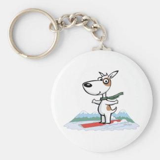 犬のスノーボーダー キーホルダー
