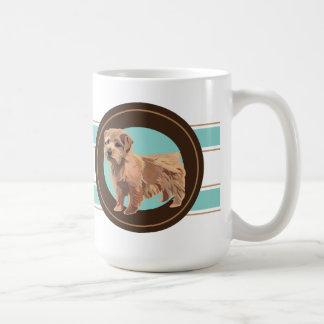 犬のノーフォークテリア コーヒーマグカップ