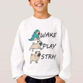 犬のパグの航跡の演劇の空電 スウェットシャツ