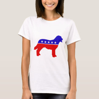 犬のパーティーの女性のTシャツ Tシャツ