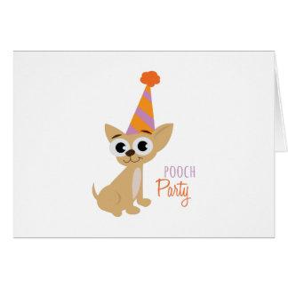 犬のパーティー カード