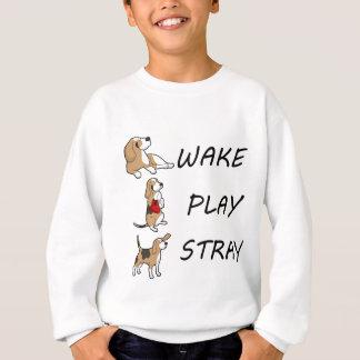 犬のビーグル犬の航跡の演劇の空電 スウェットシャツ