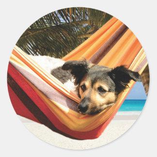 犬のビーチの時間 ラウンドシール