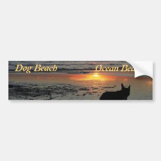 犬のビーチ バンパーステッカー