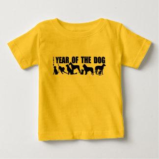 犬のベビーの黄色のティーの2018旧正月 ベビーTシャツ