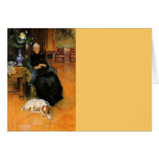 犬のポートレートを持つ祖母Gothilda カード