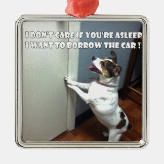 犬のミーム メタルオーナメント