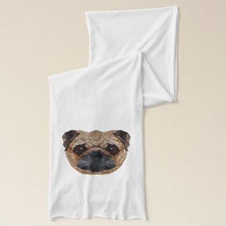 犬のモザイク スカーフ