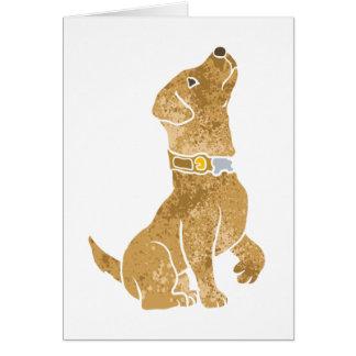 犬のモデル。 ペットを採用して下さい カード