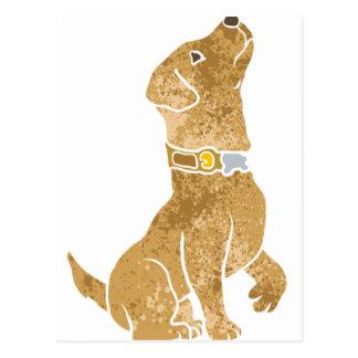 犬のモデル。 ペットを採用して下さい ポストカード