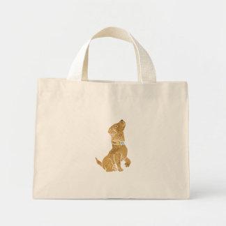 犬のモデル。 ペットを採用して下さい ミニトートバッグ
