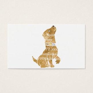 犬のモデル。 ペットを採用して下さい 名刺