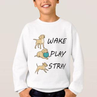 犬のラブラドールの航跡の演劇の空電 スウェットシャツ