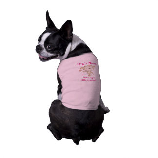 ♥犬のワイシャツの♥のお母さんの小さい猿のピンクの用品類 ペット服