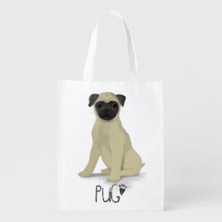 犬の人生のパグ エコバッグ
