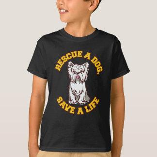 犬の保存を生命救助して下さい Tシャツ