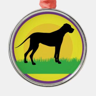 犬の円 メタルオーナメント