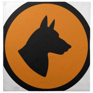 犬の危険 ナプキンクロス