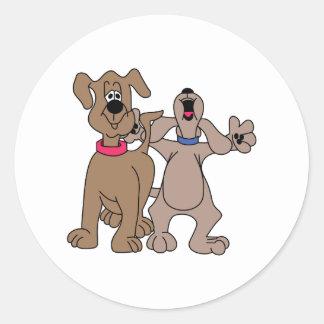 犬の友達 ラウンドシール