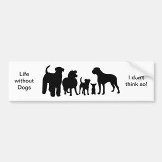 犬の品種グループの黒のシルエットのバンパーステッカー バンパーステッカー