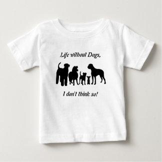 犬の品種グループの黒のシルエットはTシャツをからかいます ベビーTシャツ