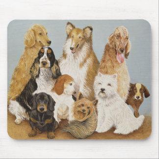 犬の夕食 マウスパッド
