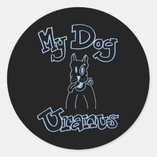 犬の天王星の私のステッカー ラウンドシール