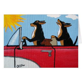 犬の巡航の挨拶状 カード