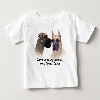 犬の幼児のユニセックスなTシャツのグレートデーン王 ベビーTシャツ