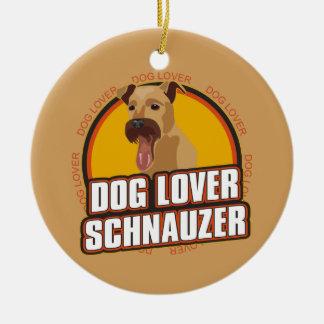 犬の恋人のシュナウツァー セラミックオーナメント
