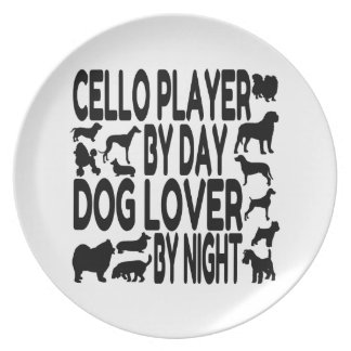犬の恋人のチェロプレーヤー プレート