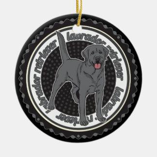 犬の恋人のラブラドル・レトリーバー犬犬 セラミックオーナメント
