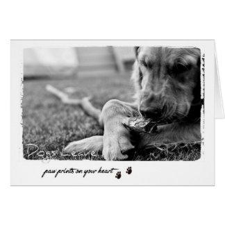 犬の恋人の挨拶 カード