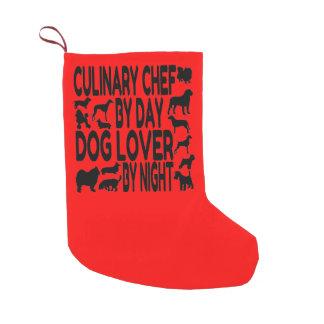 犬の恋人の料理用のシェフ スモールクリスマスストッキング