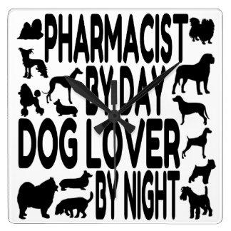 犬の恋人の薬剤師 スクエア壁時計