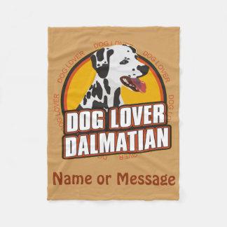 犬の恋人のDalmatian毛布は名前をカスタマイズ フリースブランケット