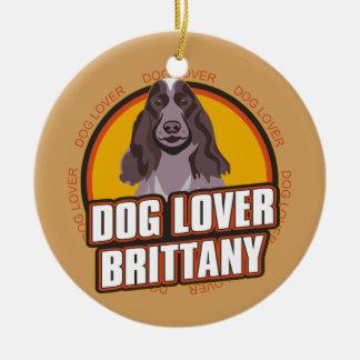 犬の恋人ブリッタニー セラミックオーナメント