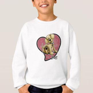 犬の恋人-ハート スウェットシャツ