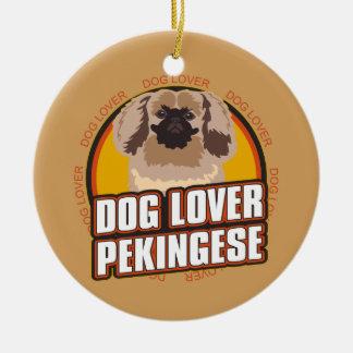 犬の恋人Pekingese セラミックオーナメント