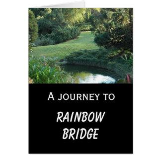 犬の悔やみや弔慰-虹橋 カード