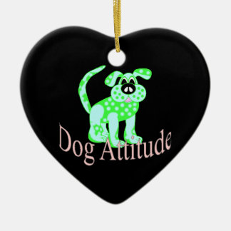 犬の態度 セラミックオーナメント