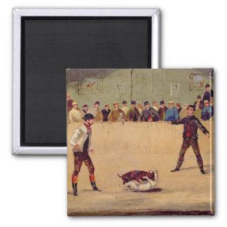 犬の戦い(紙の油) マグネット
