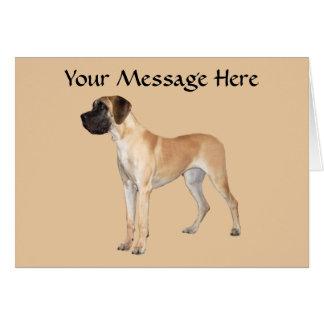 犬の挨拶状のグレートデーン王 カード
