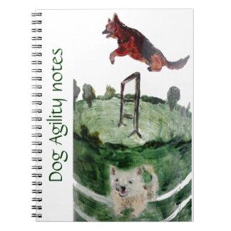 犬の敏捷の絵画 ノートブック