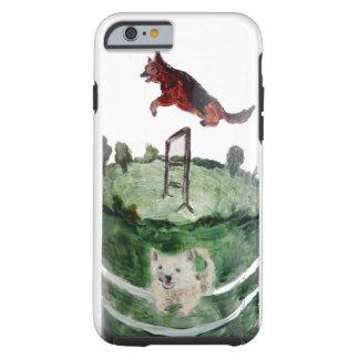 犬の敏捷の絵画 iPhone 6 タフケース